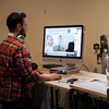 The Iron Yard Standing Desks built with Kee Klamp