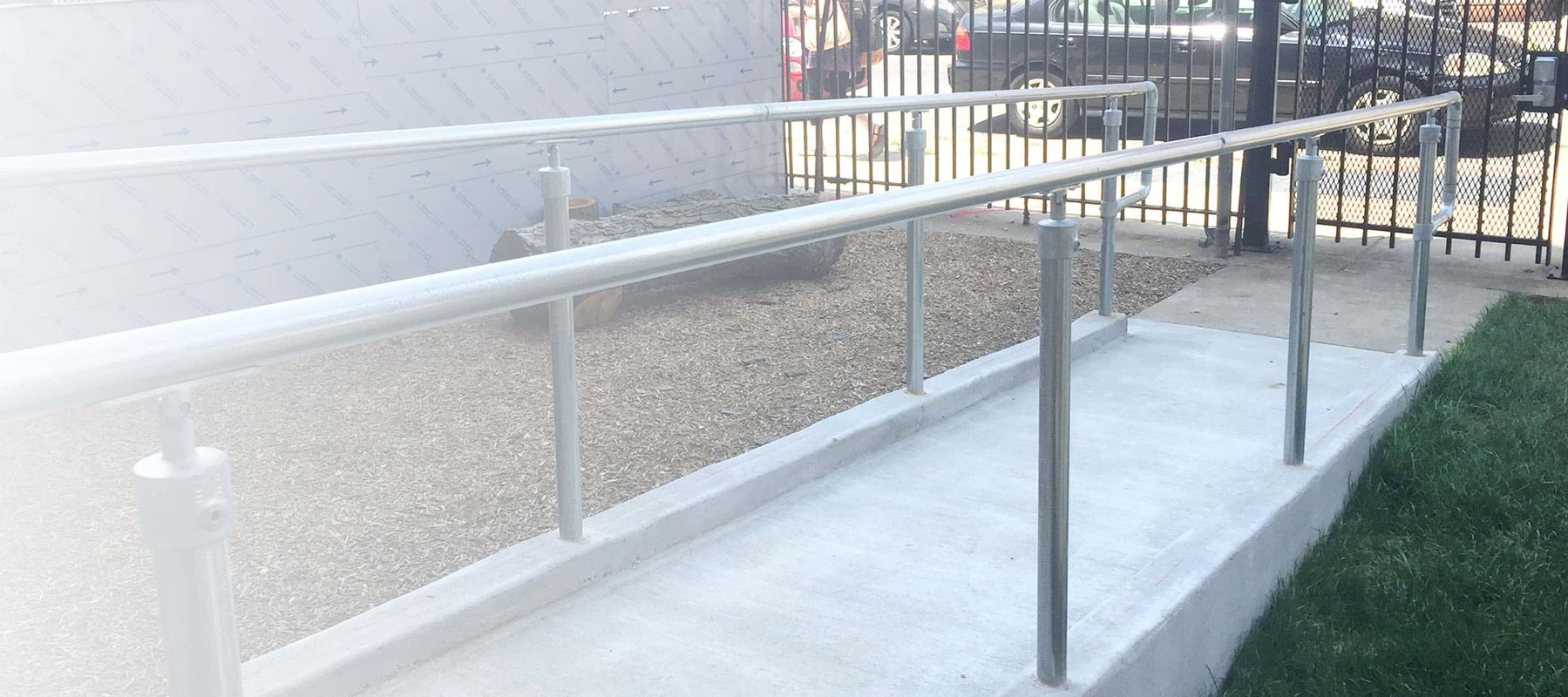 Handicap Handrail for Ramps and Stairs - Fully ADA Compliant ...