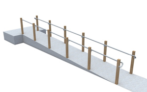 Post Mounted ADA Ramp Railing