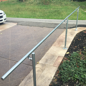 Wrought Iron and Wood Exterior Handrails For Stairs | Staircase