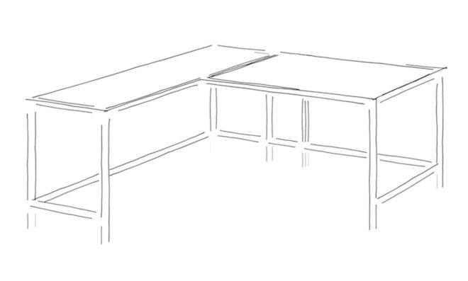 L Shape or Corner Desk Design