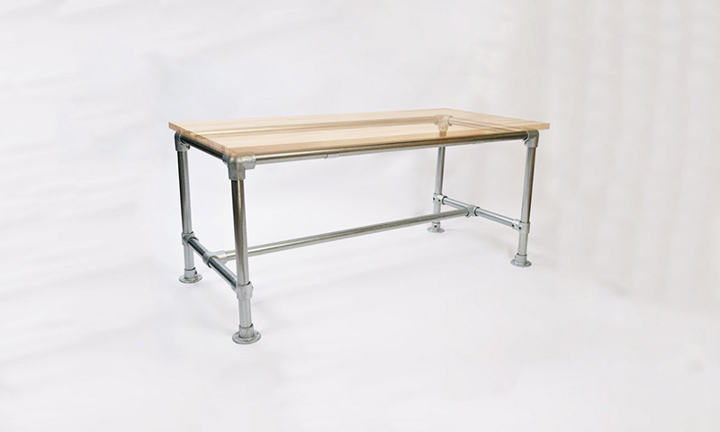 Pipe Desk Frames - Attach to Any Table Top | Simplified Building