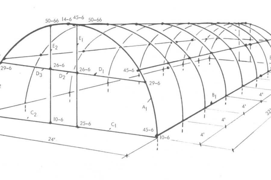 Quonset Style Greenhouse Plans   Simplified Building