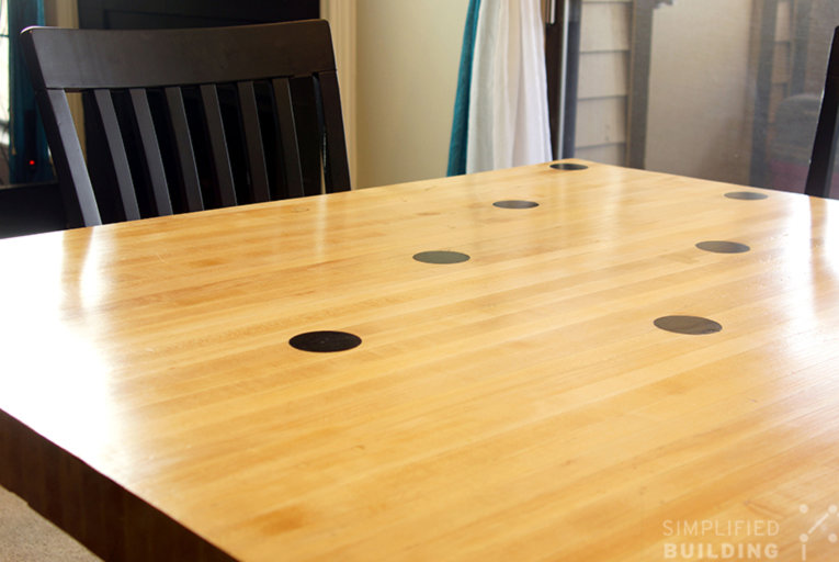 DIY Reclaimed Bowling Alley Table