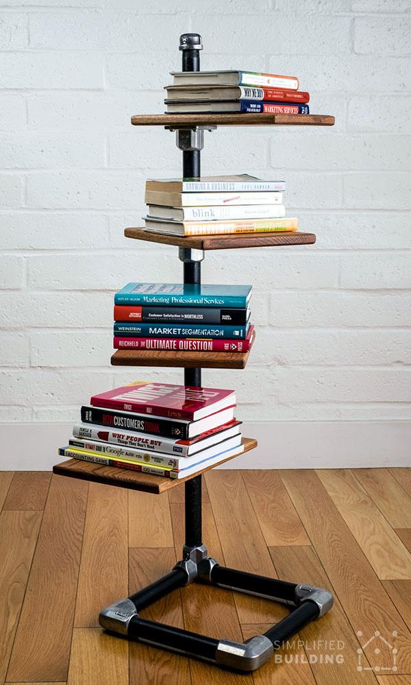 DIY Spiral Bookshelf