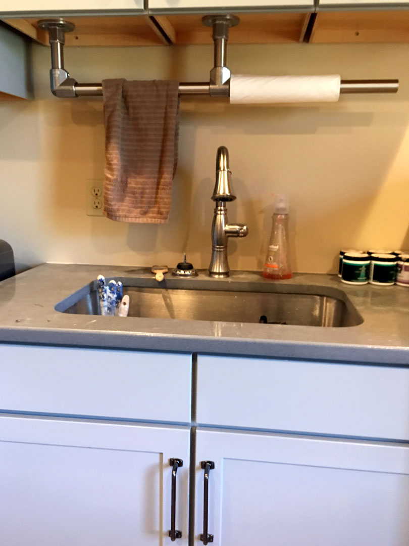 Galvanized DIY Paper Towel Rack