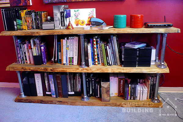 DIY Industrial Bookshelf