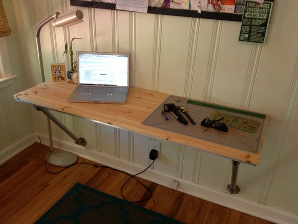 DIY Wall-Mounted Desk