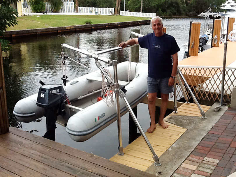 DIY Small Boat Davit