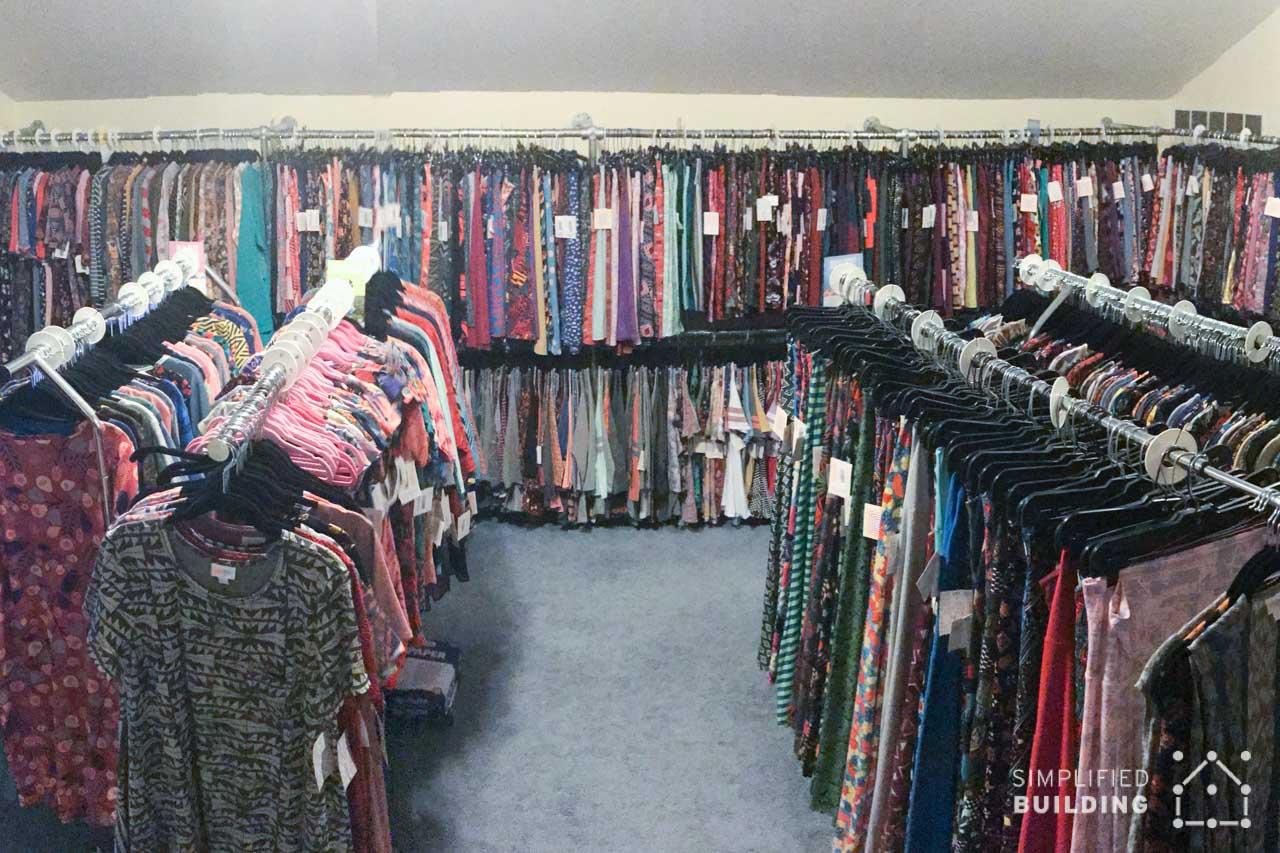 Custom Clothing Racks Installed in Home