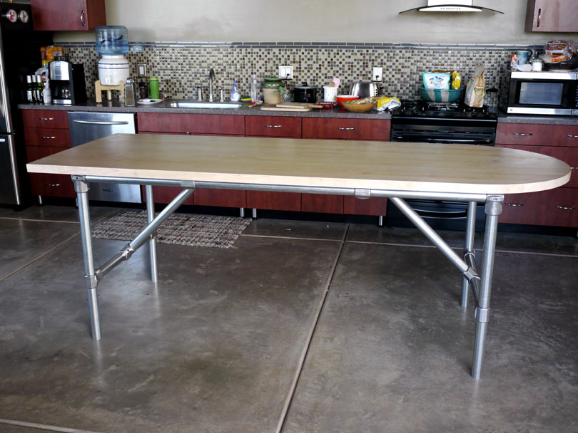 Modern DIY Kitchen Prep Table