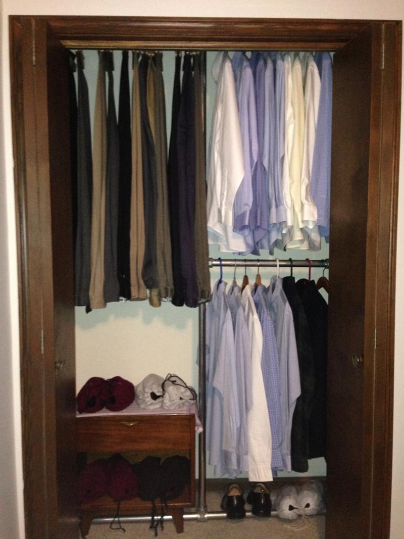 diy pipe closet