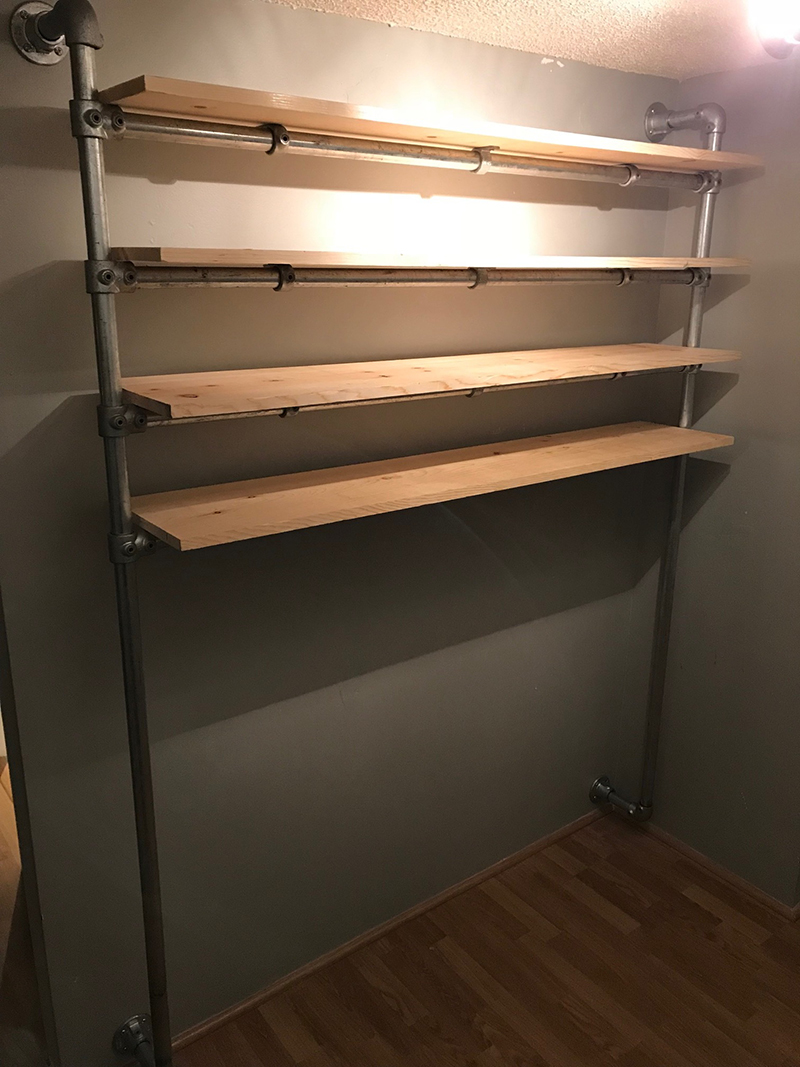 44 Diy Closet Ideas Built With Pipe Fittings Simplified