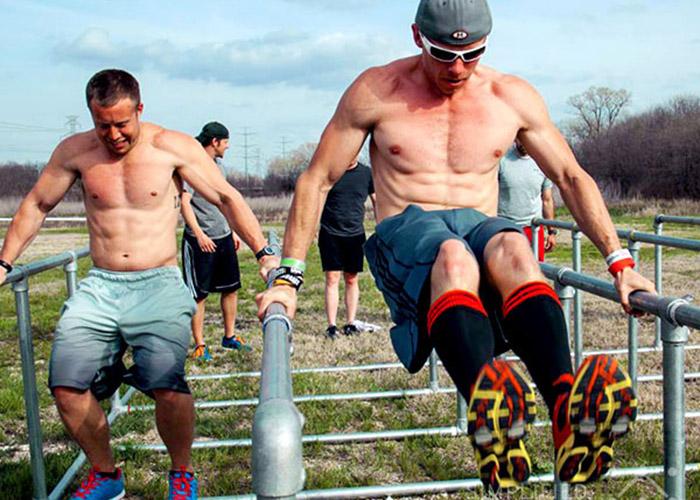 men's fitness obstacles for calisthenics