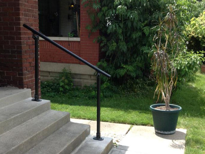 ADA compatible handrail kit for domestic use