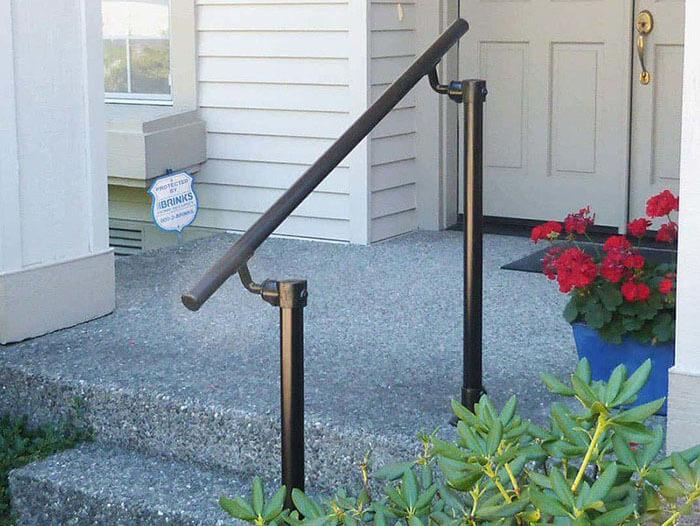 black handrail kit for home access