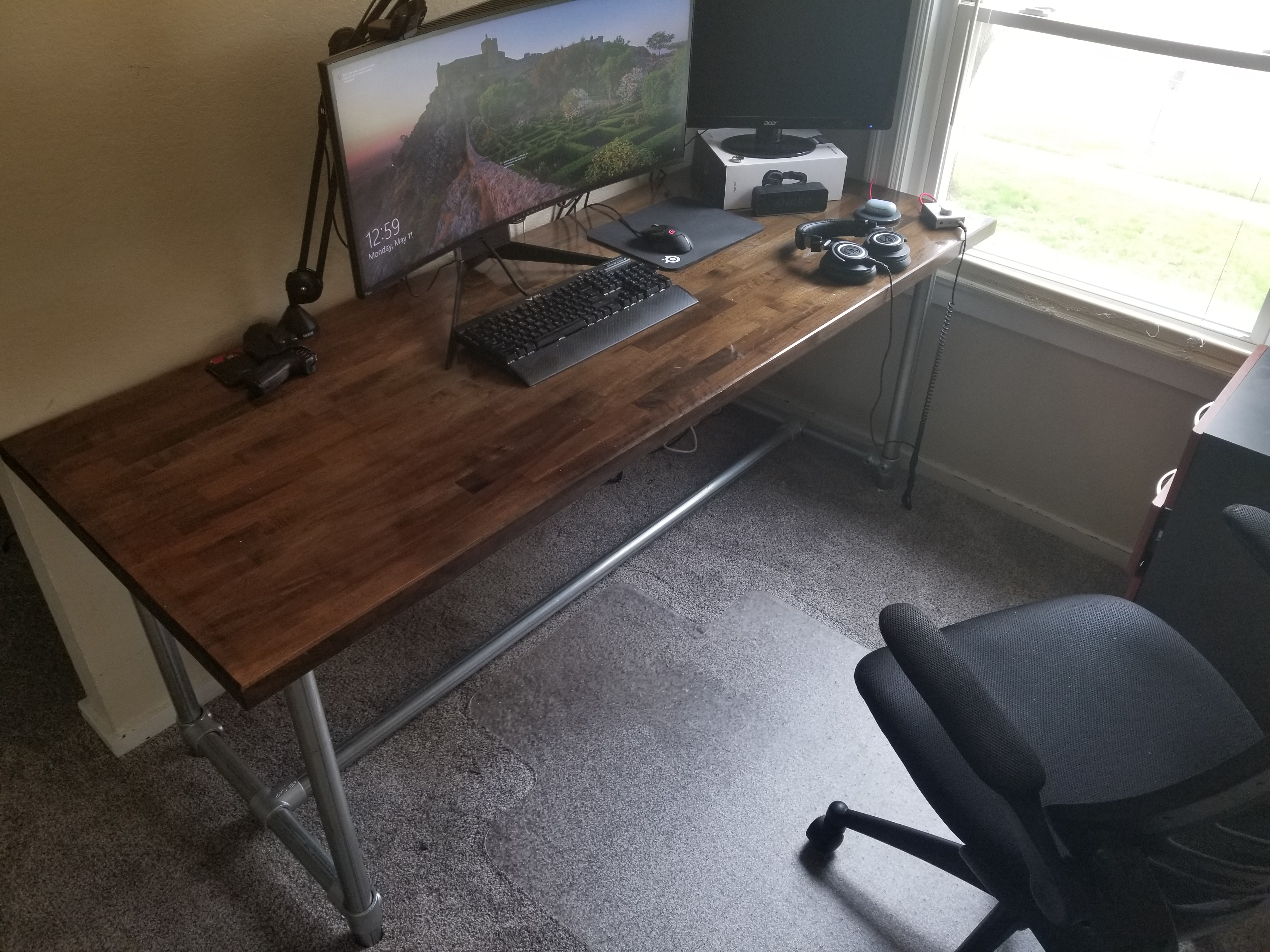 Elegant Desk Made With Fittings