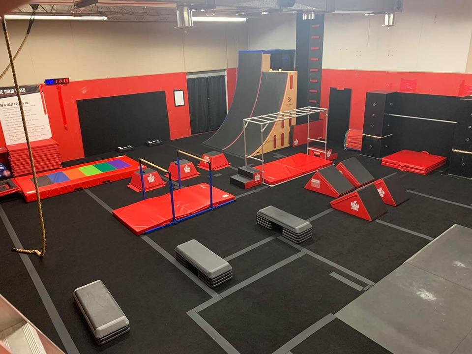 Baby Ninja Parkour Gym Setup