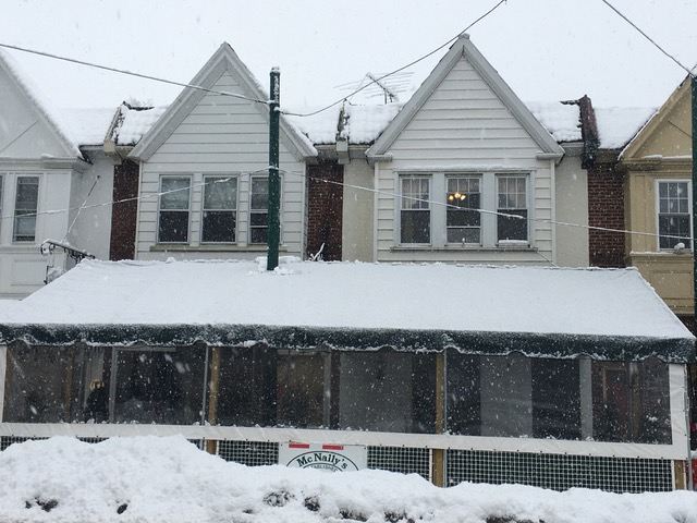 Awning Covered in Snow