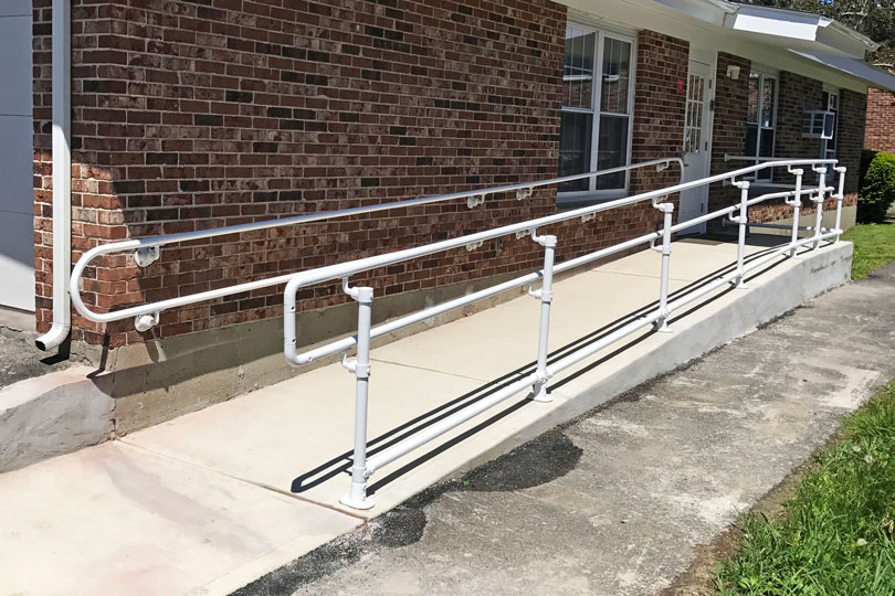 How To Build An Ada Railing For A Ramp Simplified Building