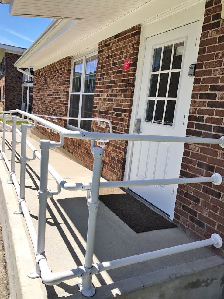 how to build railings on a ramp
