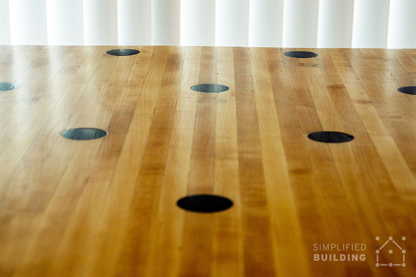 Reclaimed Bowling Alley Table - Finished