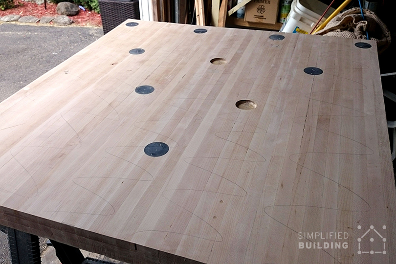 Building Bowling Alley Table