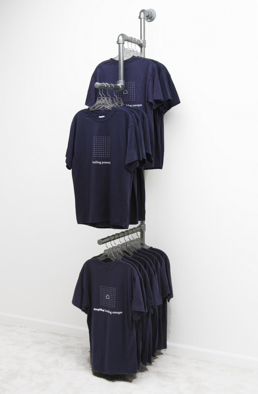 Wall Mounted Clothing Rack