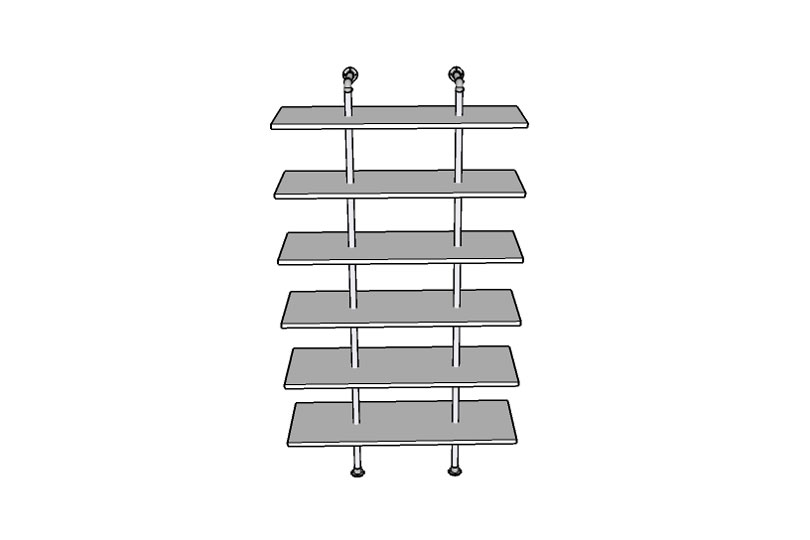 Contemporary Retail Shelving Unit Plans