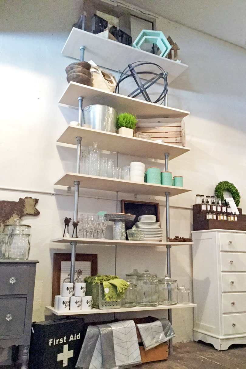 Contemporary Retail Shelving Unit