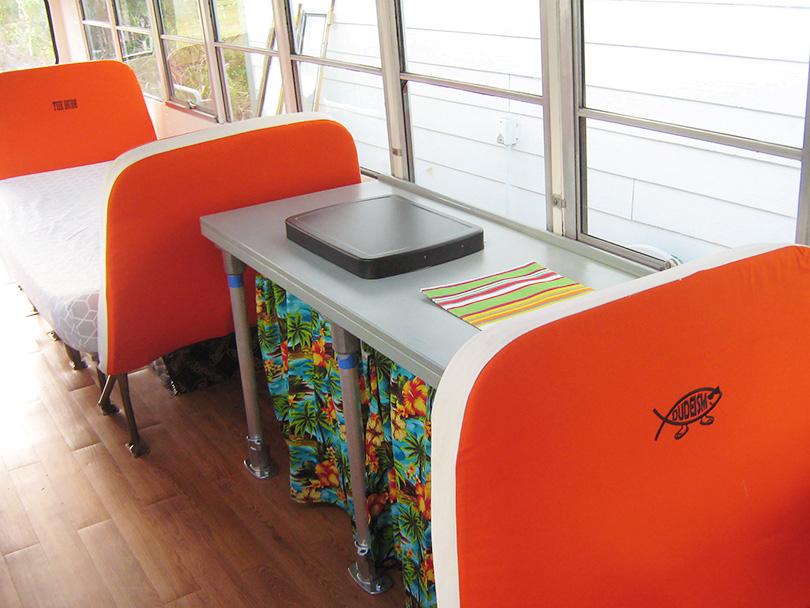 School Bus Custom Counter