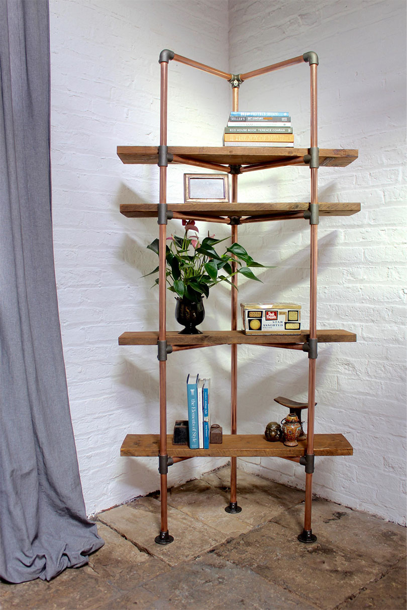 diy corner shelf idea