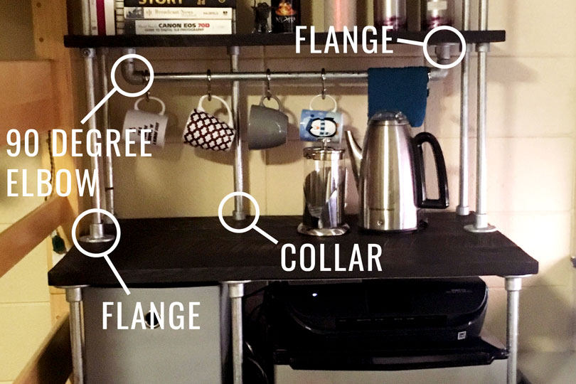 DIY Storage Unit for Dorm -Diagram