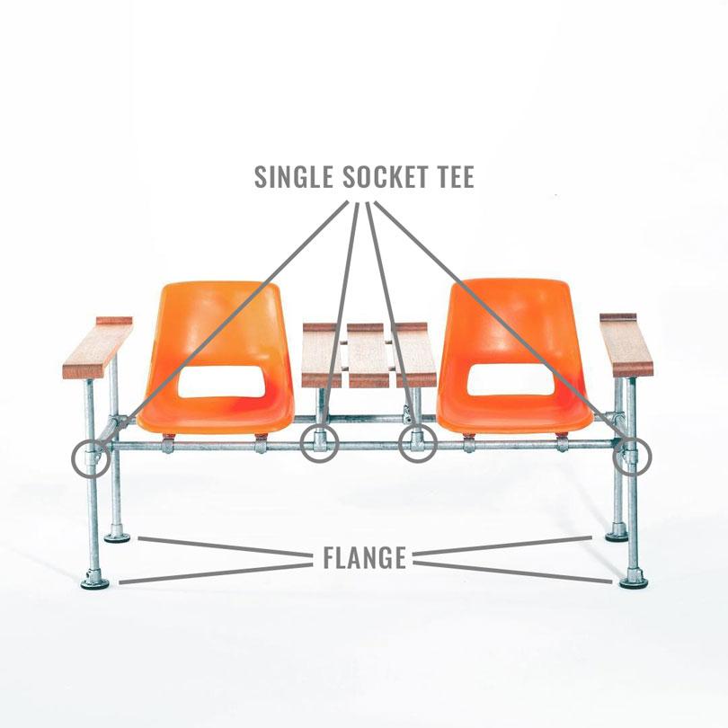 DIY Industrial Chair Diagram