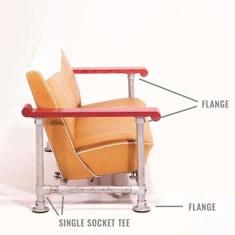DIY Industrial Couch Diagram