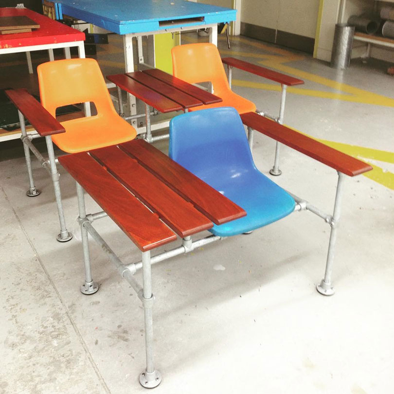 diy industrial chair 7 diy industrial furniture ideas pipe chairs couches 10217