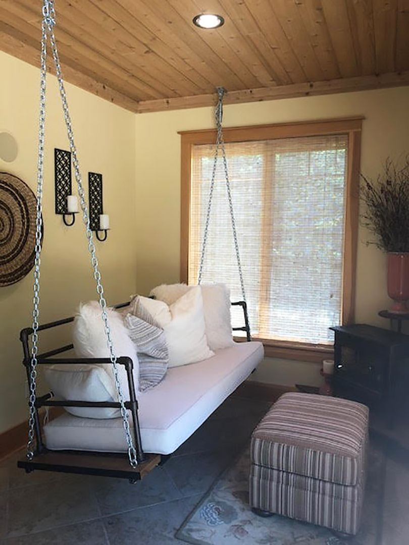 Diy Porch Swing With Upcycled Door And Step By Step