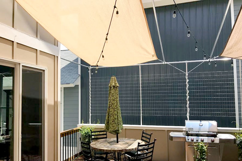 How To Build Your Own Diy Shade Sail Simplified Building