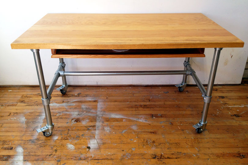 Rolling Wood Top Workbench
