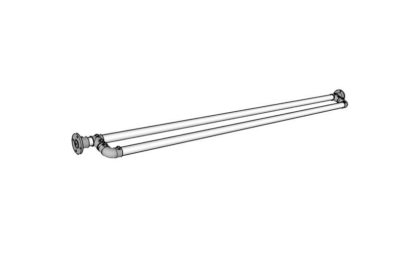 Double Shower Curtain Rod Plans