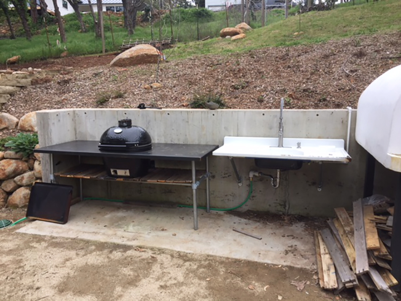 BBQ Table Sink