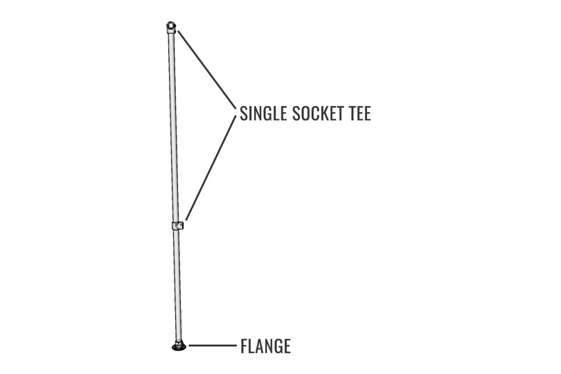 Double Clothing Rack Diagram