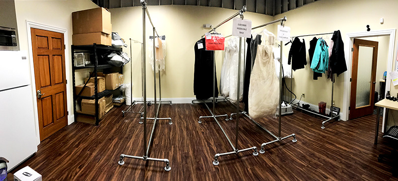 Heavy Duty Double Clothing Rack