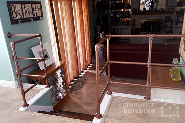 indoor railing ideas