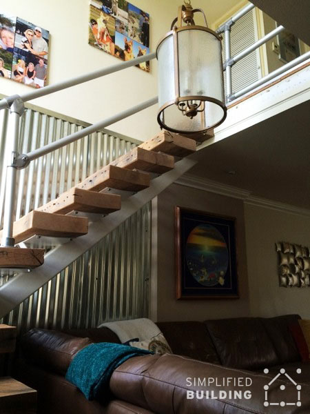 indoor railing idea