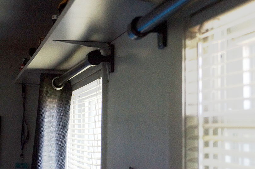 Industrial Style Curtain Rod