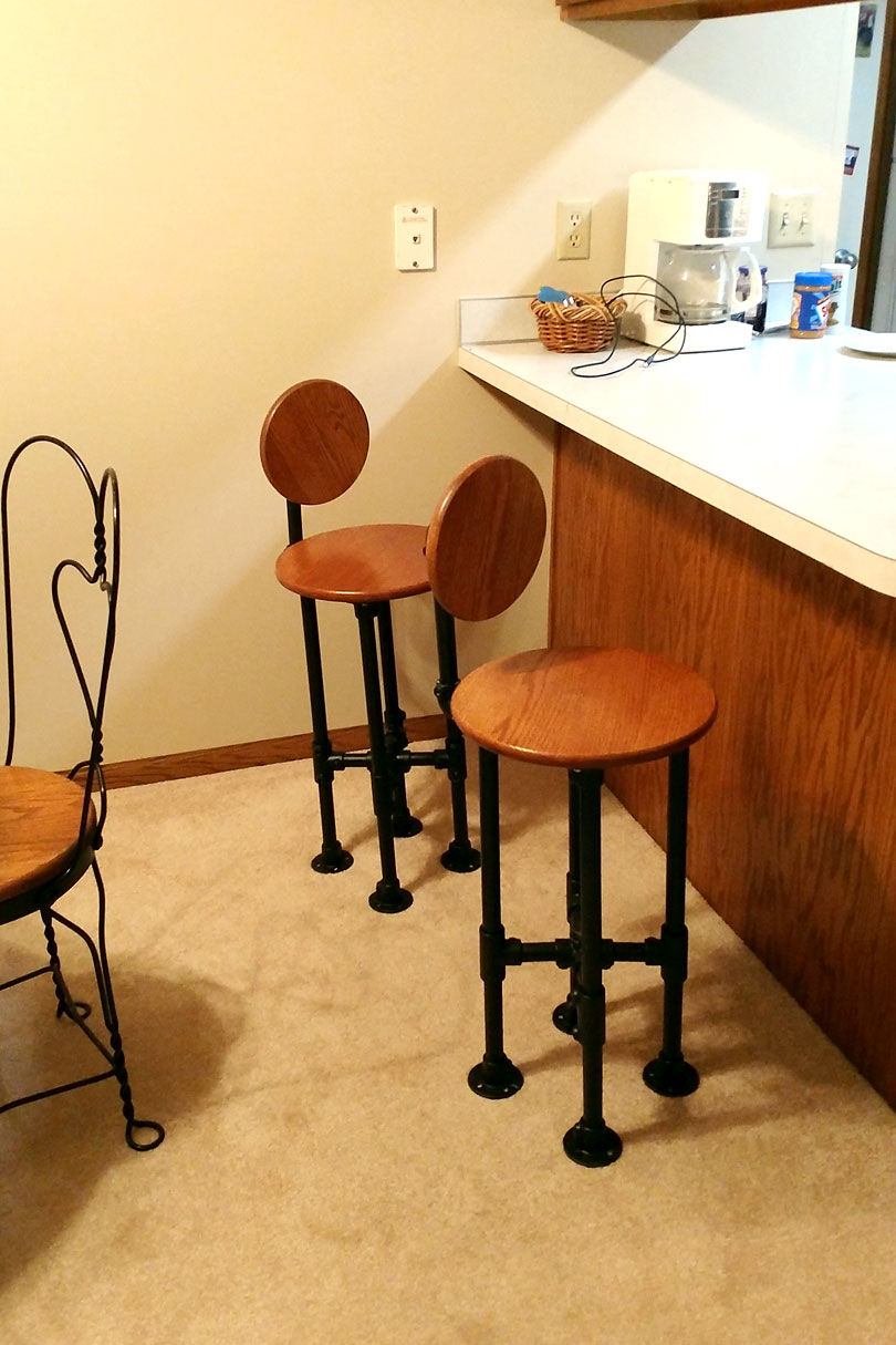 Industrial Pipe Stools