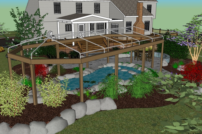koi pond cover design from the customer