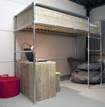 40 Diy Loft Bed Ideas Built With Industrial Pipe