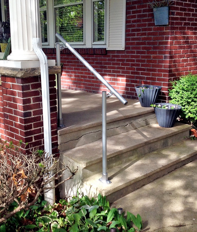 Stone Porch Steps Handrail